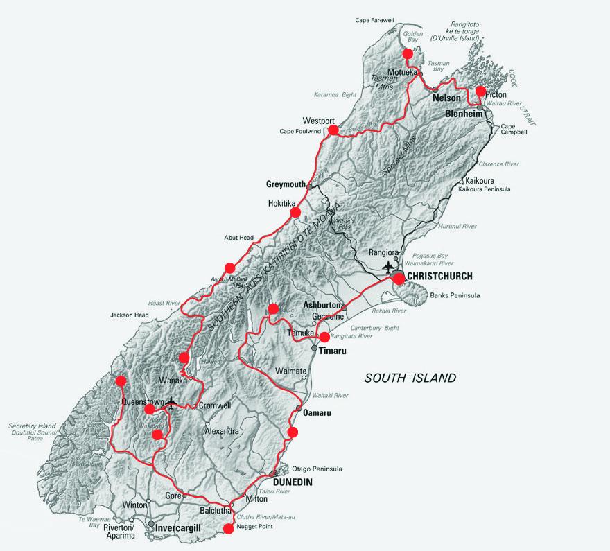 South_Island_Map
